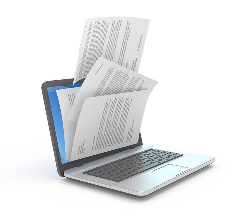 computer with pdf forms